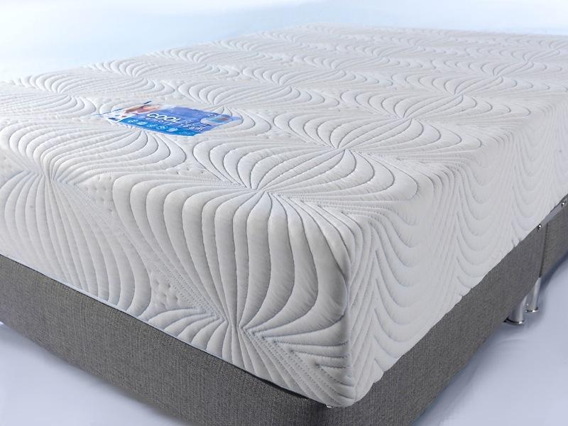 Cool Blue Memory Foam Mattress Sensation Sleep Beds and
