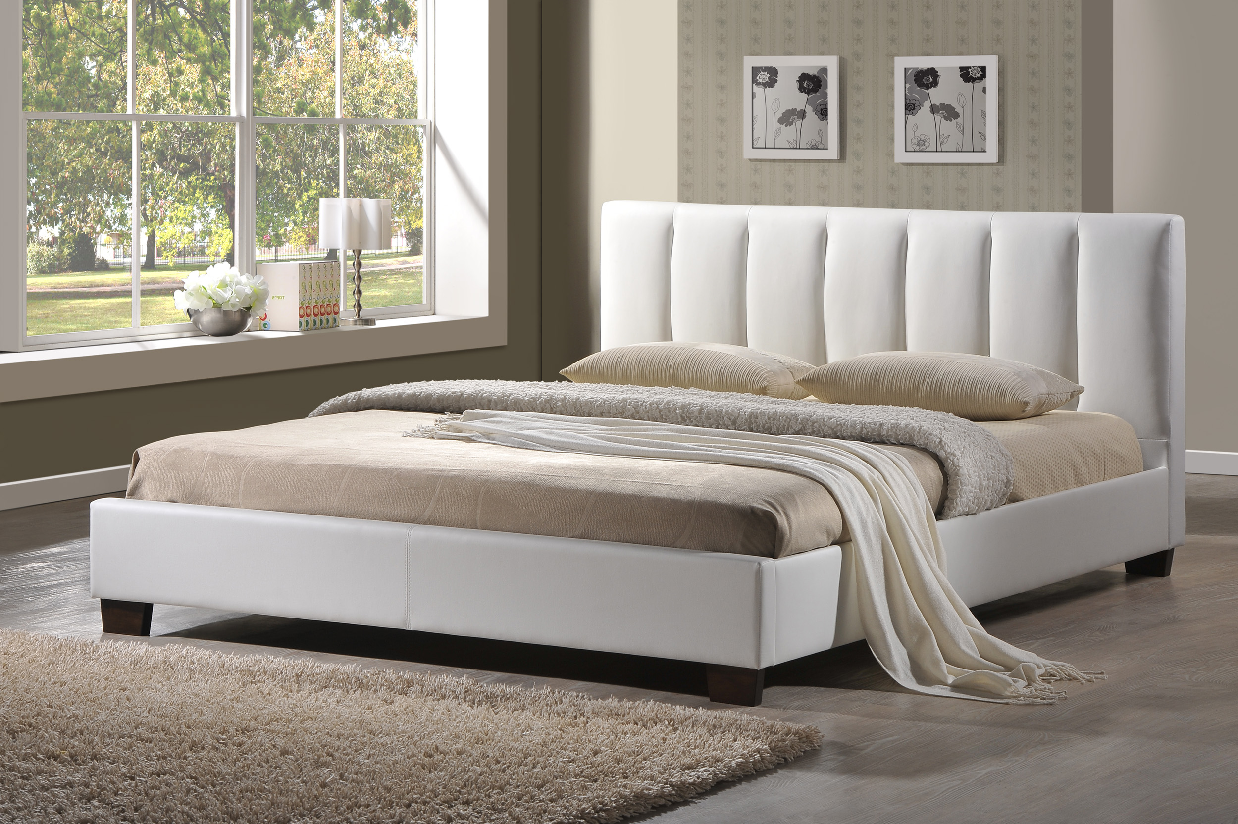 white design our bedroom dream rug w fur leather headboard on bed refreshing full frame sets to in ith fill black rectangle shape about