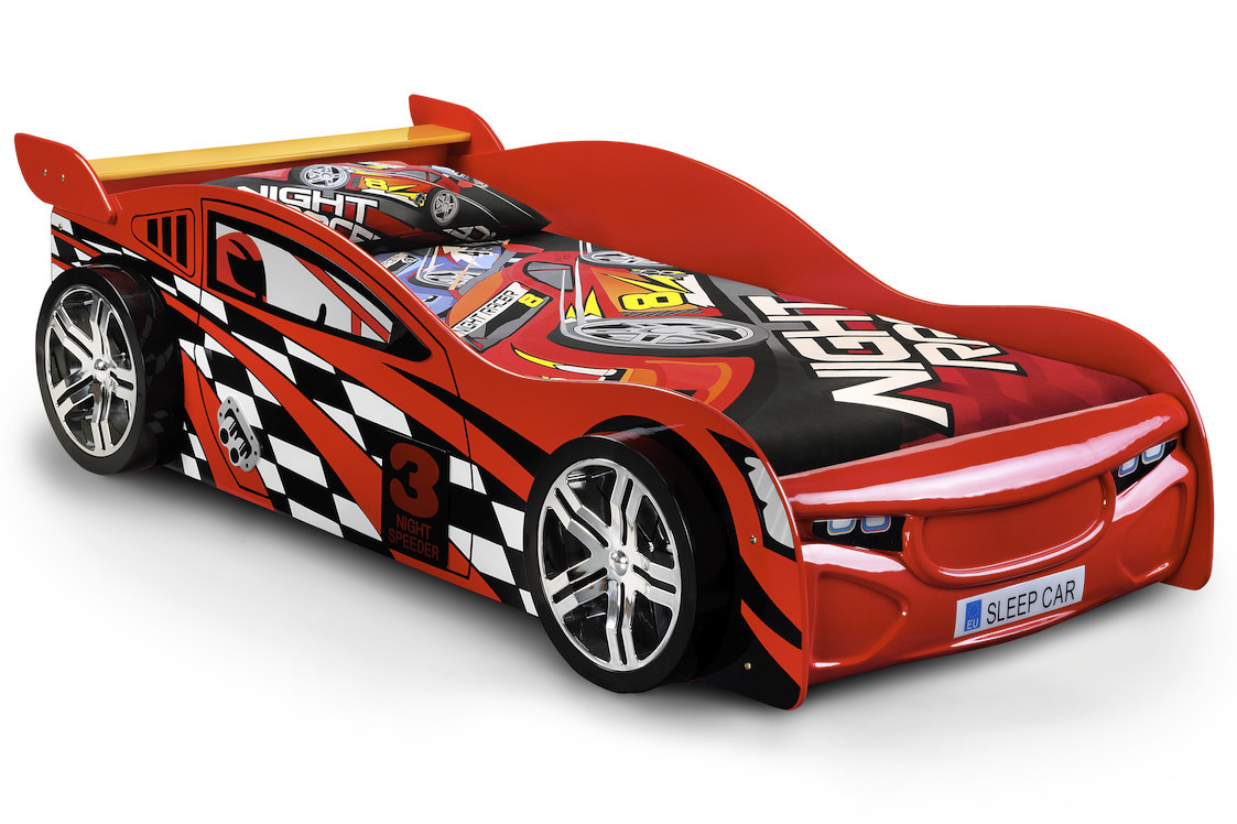 Picture of: Monaco Red Racing Car Sensation Sleep Beds And Mattresses