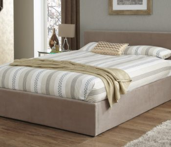 Padstow Latte Ottoman Fabric Bed Frame