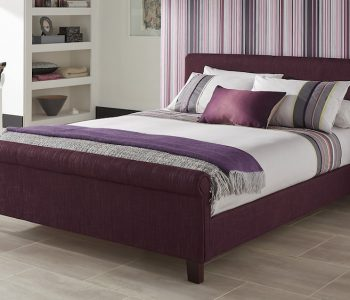 Charlotte Plum Fabric Bed Frame