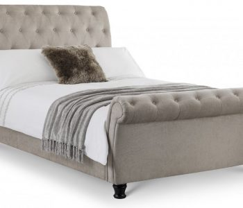 Tuscany Mink Scroll Fabric Bed Frame