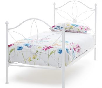 Petal White Metal Bed Frame