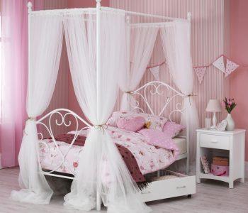 Dream 4 Poster Bed Frame Optional Drapes