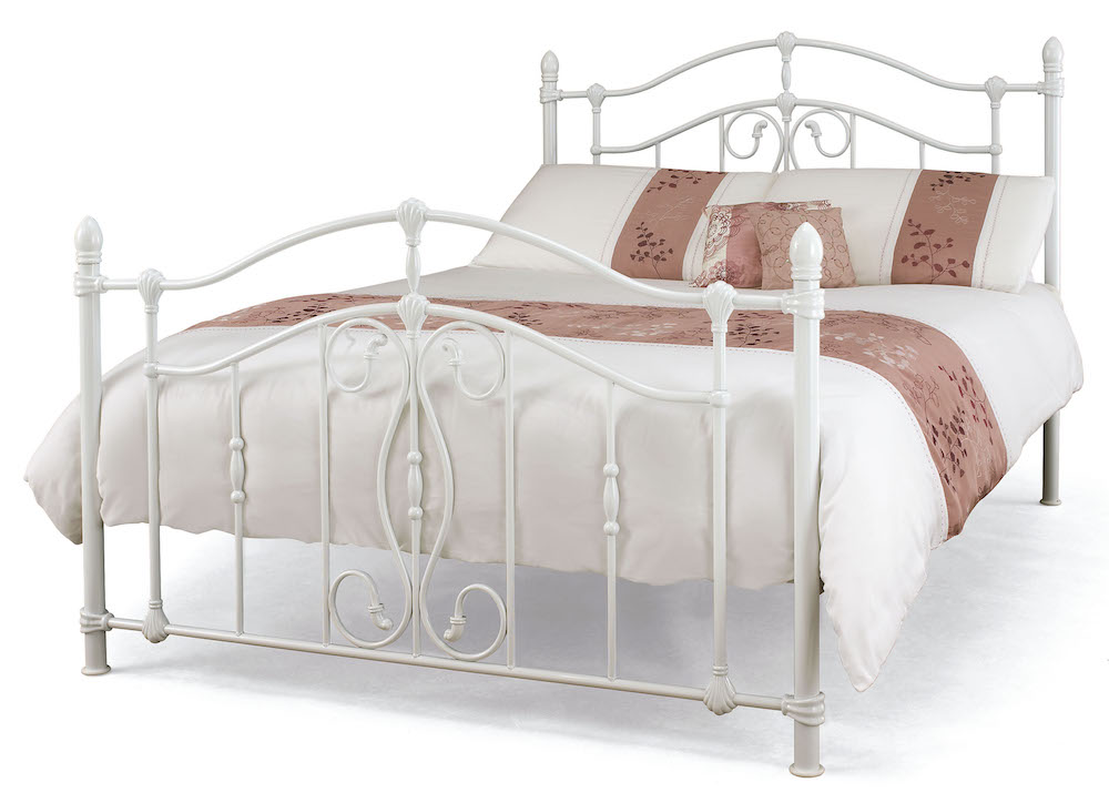 Seville White Metal Bed Frame Sensation Sleep Beds And