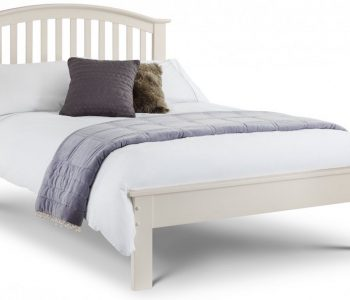 Barcelona Stone White Wooden Bed Frame