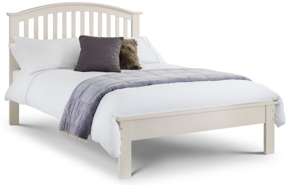 Barcelona Stone White Wooden Bed Frame Sensation Sleep