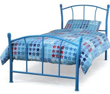 Valletta Blue Metal Bed Frame