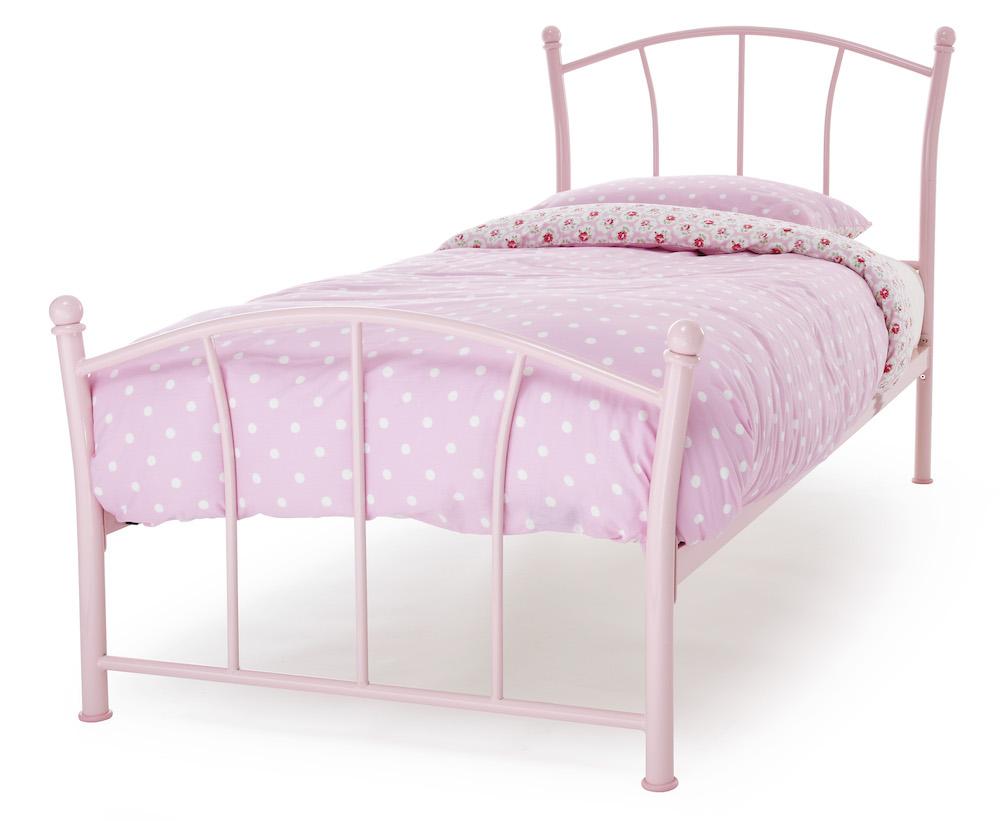 Valletta Pink Metal Bed Frame Sensation Sleep Beds And