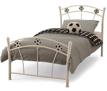 Footy White Metal Bed Frame