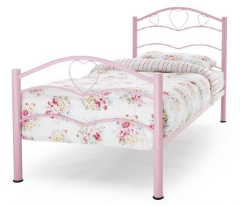 Tanzania Pink Heart Metal Bed Frame