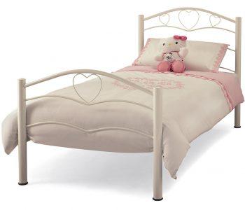 Tanzania White Heart Metal Bed Frame