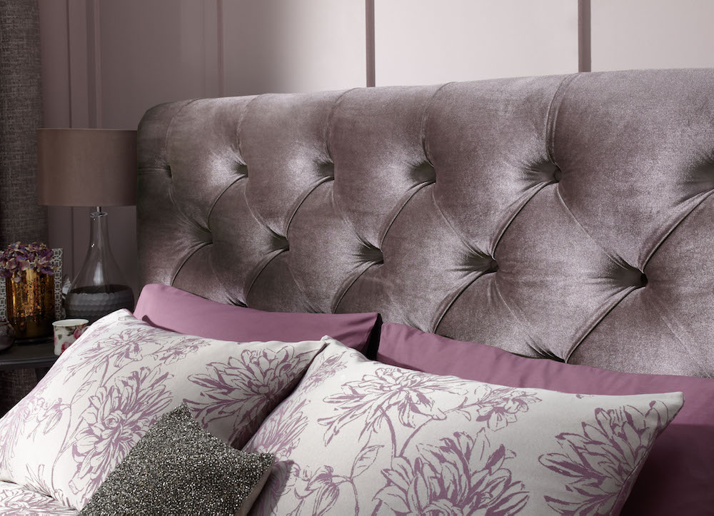 Bellagio Lilac Fabric Bed Frame Sensation Sleep Beds And
