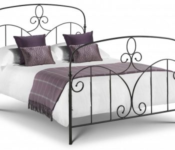 Santorini Black Metal Bed Frame