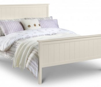 Reading Stone White Wooden Bed Frame