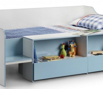 Auckland Blue Child's Low Sleeper Bed Frame
