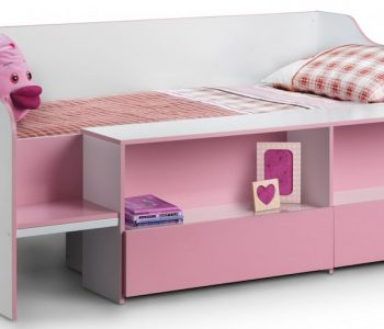 Auckland Pink Child's Low Sleeper Bed Frame