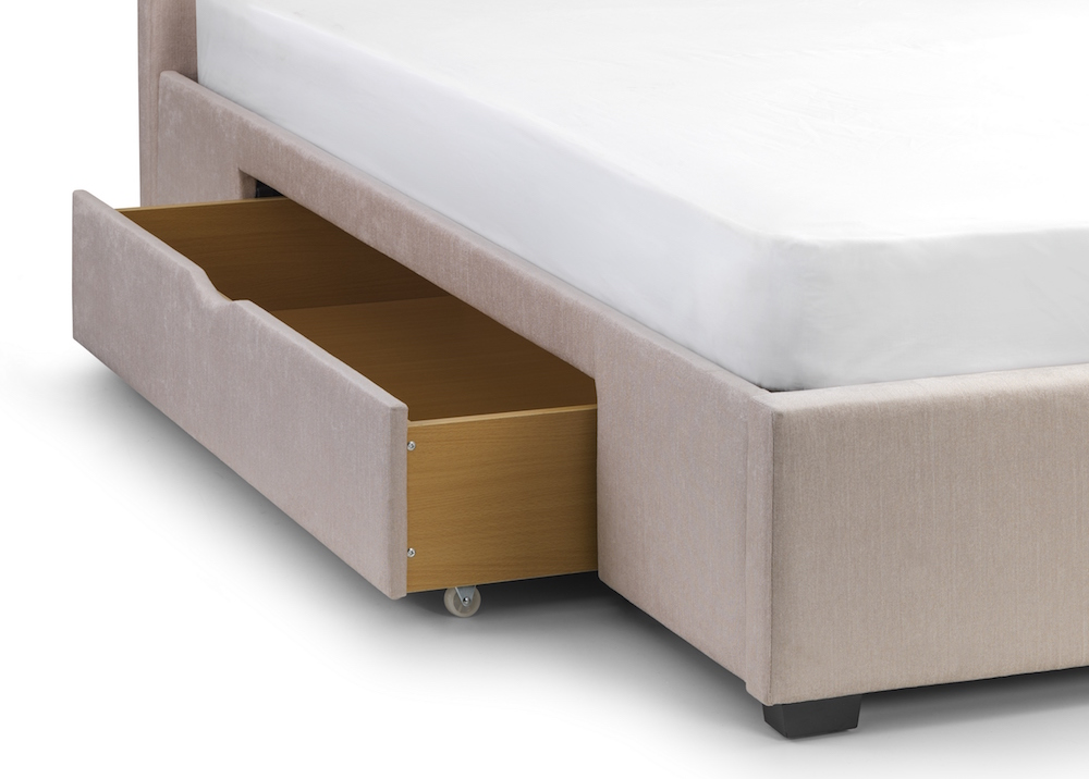 Rio winged fabric storage bed frame sensation sleep beds and mattresses - Choosing a bed frame ...