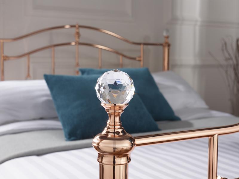 Mumbai Rose Gold Metal Bed Frame Sensation Sleep Beds And Mattresses