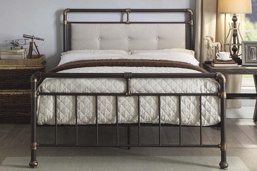 Scaffold Design Rustic Metal Bed Frame