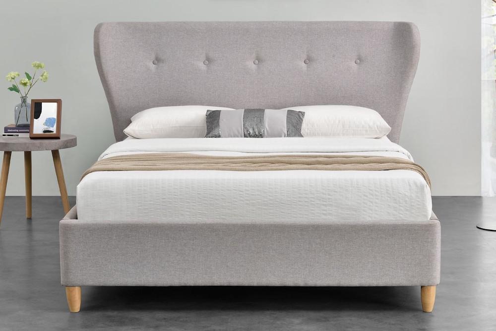 Lonsdale Light Grey Fabric Bed Frame - Sensation Sleep Beds and ...