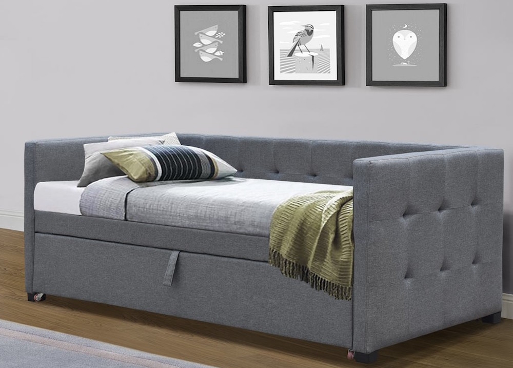 witney grey day bed with guest bed
