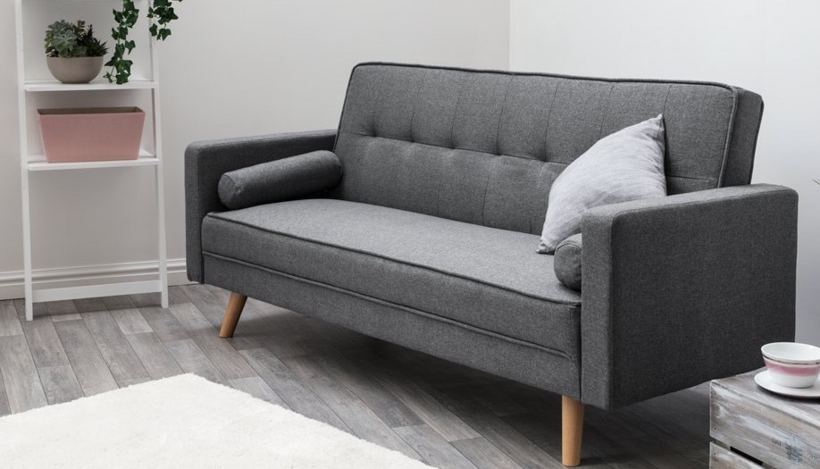 Marvelous Details About Upholstered Charcoal Grey 3 Seater Sofa Bed Click Clack Cjindustries Chair Design For Home Cjindustriesco
